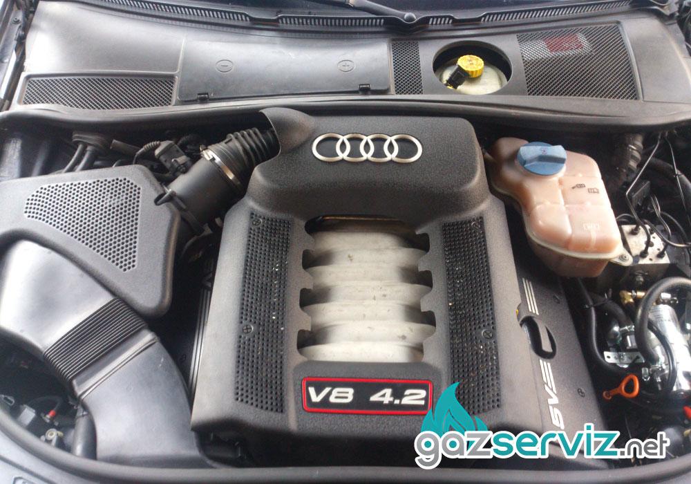 Постравяне на газов инжекцион King OBD на Audi S6, 4,2 литров, 346 к.с. двигател.
