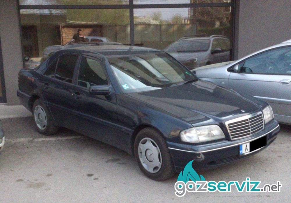 Mercedes C180 1.8 122 к.с. с газова уредба Zanardi - Газ Сервиз - gazserviz.net