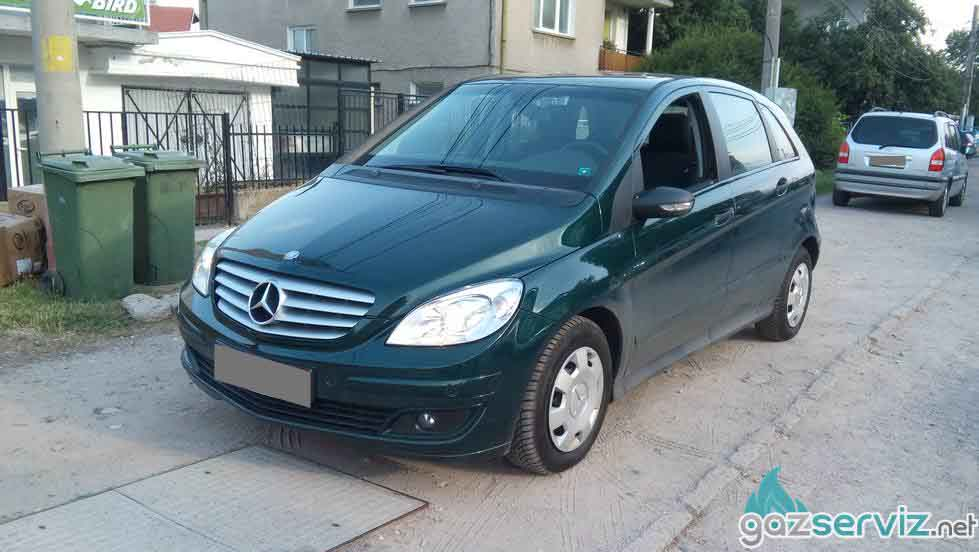 Mercedes B с газова уредба Digitronic софия газ сервиз